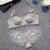 Shitagi Sexy Sutiã de Renda E Calcinha Transparente Macio Roupa Interior Das Mulheres Set Tow Bow Intimates ABC Copo Fino Lingerie Empurrar Sutiã Bra