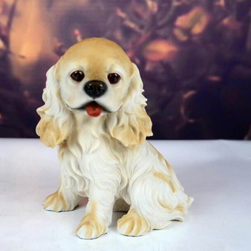 Simulation Golden Retriever Animals Dogs Resin Art Craft House Decoration Action Figure Collectible Model Toy L1984