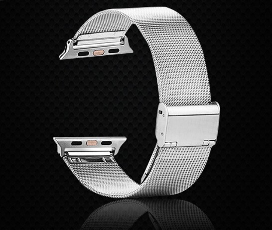 Business Watchband For Apple iPhone iWatch Stainless Steel Watch Band 42mm  Wrist Bracelet Buckle Clasp Strap Free shipping 618ef13455a3