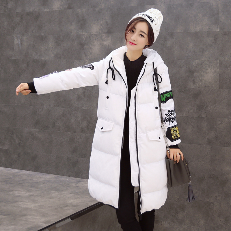 Winter women's new bread-style jacket cotton Europe and the United States fashion Slim long Cotton clothing TB7701 europe and the united states long sleeve hooded keep out the cold winter to keep warm and comfortable cotton coat