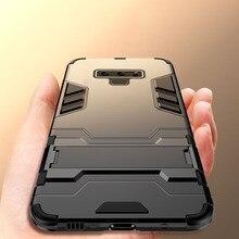 цена на Luxury 3D Cool Armor Case For Samsung Galaxy Note 9 8 Hybrid PC+TPU Shockproof Rugged Case For Samsung Note 9 Stand Cover Cases