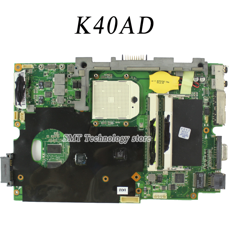 For motherboard K40AB K40AD K40AF K50AF K50AB K50AD Mainboard K40AB DDR2 Tested Free Shipping laptop motherboard for toshiba a205 a200 v000108040 integrated ddr2 mainboard full tested free shipping