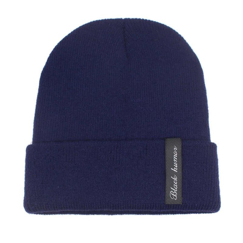 YOUBOME Kış Örme Şapka Kadın Skullies bere şapkalar Erkekler Için Siyah Katı Sıcak Yumuşak Gorros Bonnet Kadın Bere Kış Şapka Kap