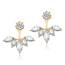 Cubic Zirconia Flower Stud Earrings (3 colors)