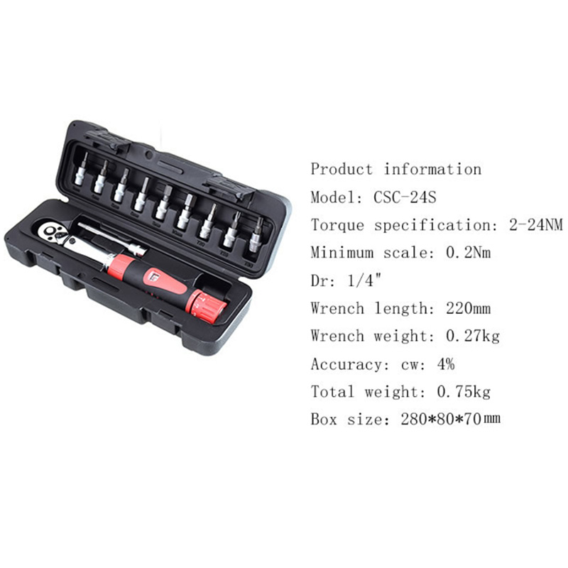 1Set 1 4 Inch Dr 2 14Nm Bike Torque Wrench Set Bicycle Repair Tools Kit Ratchet Machanical Torque Spanner Manual Torque Wrench in Wrench from Tools