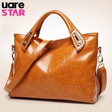 2017 oil wax PU leather shoulder bags brand designer handbags vintage women messenger bags brown ladies