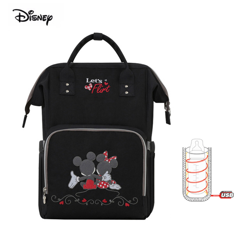 Disney Brand Multifunctional Maternity Diaper Backpack Baby Messenger Maternal Waterproof Milk Heating Insulation Mother Bag