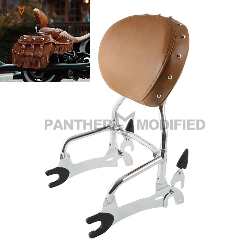 12 Motorcycle Backrest Sissy Bar With Pad case for Indian Chief Classic Vintage 2014-2017