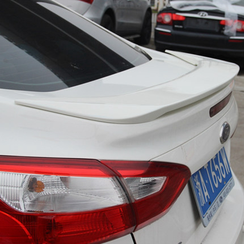 Car Styling For Ford Focus Sedan 4Doors 2012 2013 2014 ABS Plastic Material Rear Trunk Roof Wing Unpainted Primer Rear Spoiler abs plastic material unpainted primer color tail trunk wing rear roof spoiler car styling for honda crv cr v 2007 2011 aitwatt