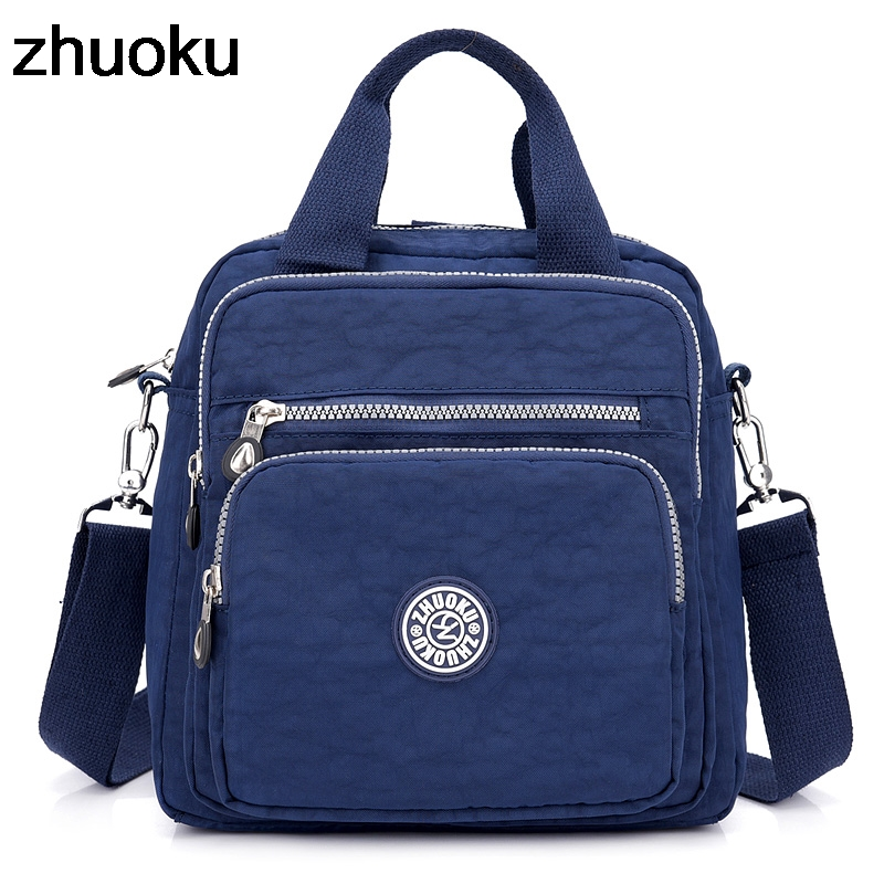 Women Messenger Bags Light Travel Handbag Waterproof Nylon Double Shoulder Bags Casual Quality Crossbody Bag Lady Flap Tote