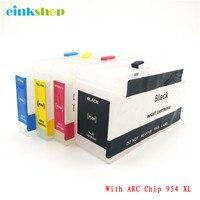 Cartucho de Substituição Para HP 954XL einkshop 954 Recarregáveis 954 XL OfficeJet Pro 7740 8210 8710 8720 8730 Impressora de Reset Automático chip|Cartuchos de tinta| |  -