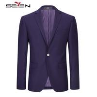 Seven7 Brand Men's Suit Jacket Casual Blazers Masculine Slim Fit Plus Size 2017 Purple Mens Male Prom Party Clothing 112C10040