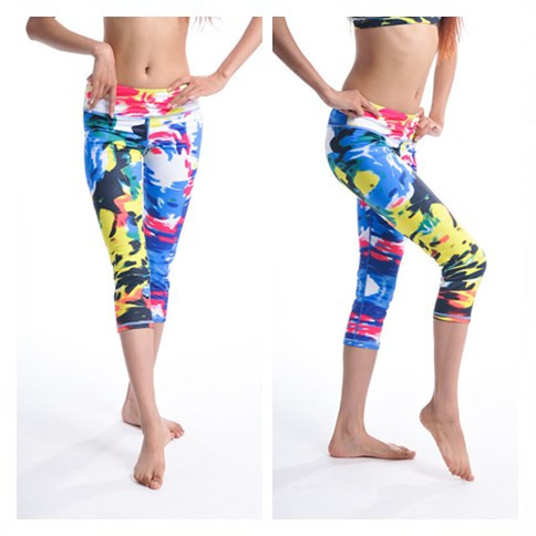 New arrival women sports yoga pants lulu high elastic compression capris for women outdoor gym fitness running tights leggings