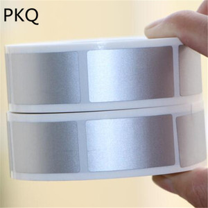 Image 1 - 23x42mm/25x25mm silver adhesive SCRATCH OFF stickers DIY manual Label Tape hand made scratched stripe card film