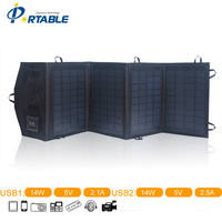2015 Folding Solar Panel With 4 Folds In Black Color Charger Folding Solar Panel Solar Charger