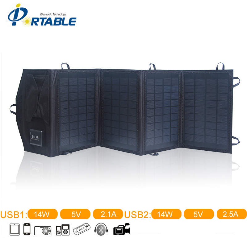 ФОТО 2015 Folding Solar Panel With 4 Folds Charger Folding Solar Panel Solar Charger For Phone iPhone iPad Samsung PETCS14TB