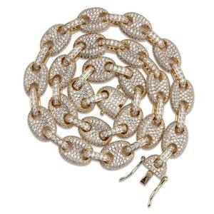 Image 5 - Topgrillz 12 Mm Solid Gold Zilver Kleur Kubieke Zirkoon Link Ketting Bling Mannen Hip Hop Sieraden Koper Iced Link ketting Voor Gift