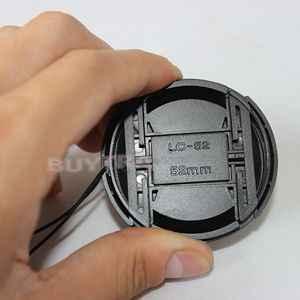 52mm Plastik Merkezi Tutam yapış Ön kapatma başlığı için Kamera Lens Filtreler ile kaybetmek Kordon