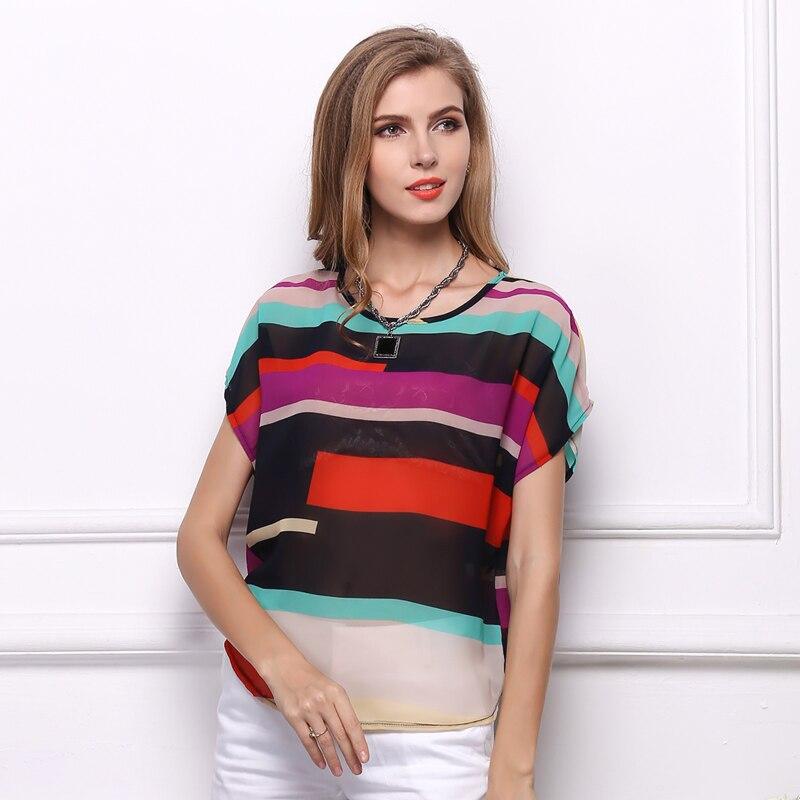 Կանանց նորաձևության գծավոր շիֆոն - Կանացի հագուստ - Լուսանկար 2