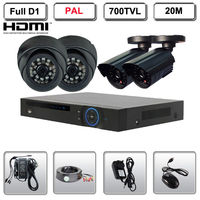 4 CH Channel Full D1 HDMI DVR CCTV Indoor Outdoor 700TVL Security Camera System