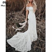 2018 Vestidos de Casamento com Vestidos de Renda Para O Casamento Do Vintage de Manga Curta Robe de mariage vestido de noiva Sereia Vestidos de Noiva
