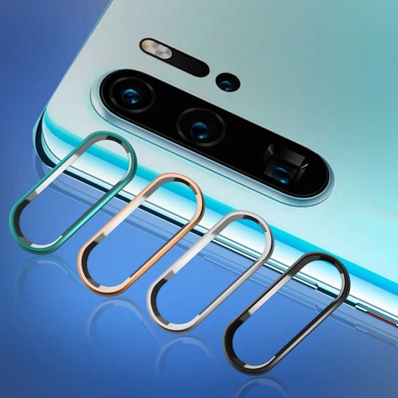 For Huawei P30 mate 20 mate10 p20 lite pro p smart 2019 honor 10 Metal Lens Ring+Tempered Glass Camera Lens Protector Protection