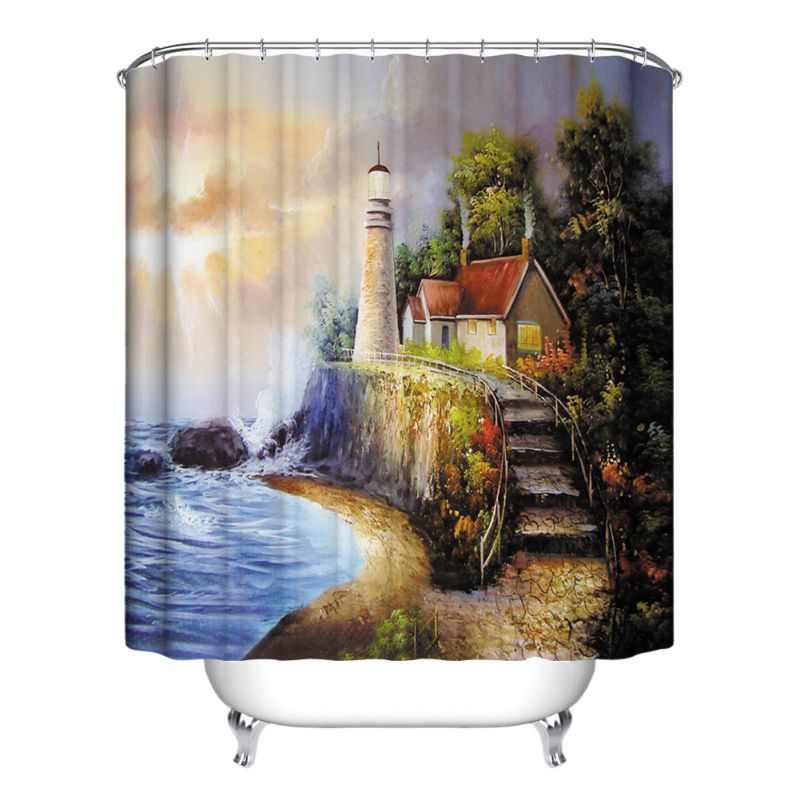 Verious nature forest bathroom shower curtain waterproof for Nature decor