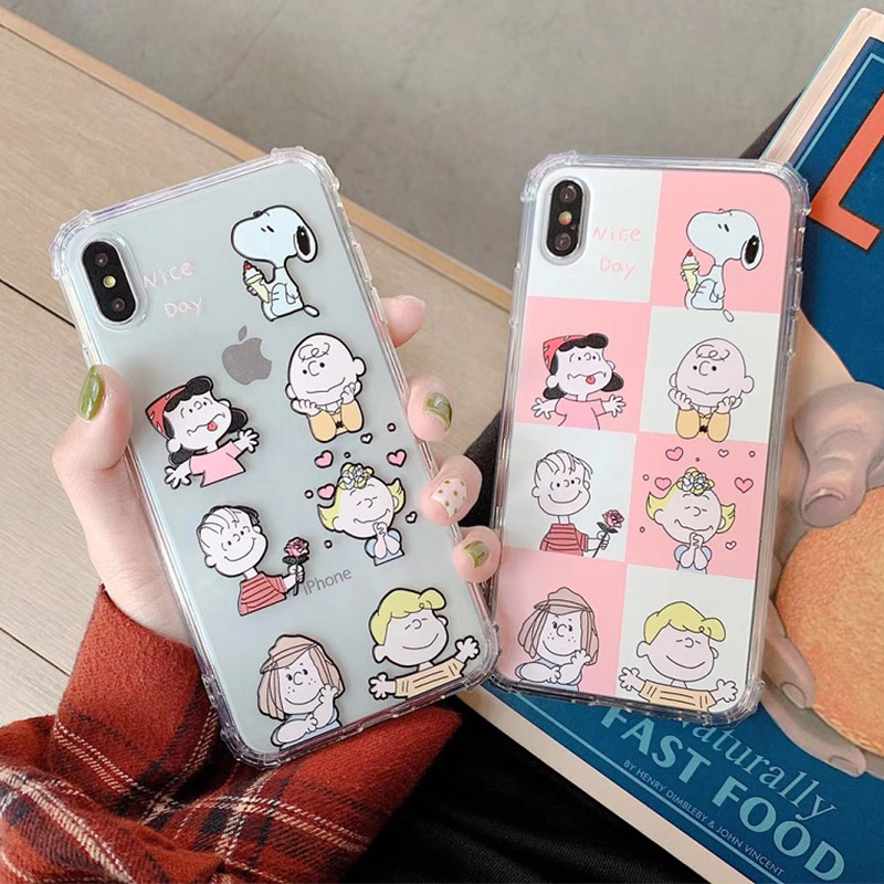 <font><b>Kawaii</b></font> anime Cartoon Charlie Brown Phone <font><b>Case</b></font> For coque <font><b>iPhone</b></font> 7 7 Puls 6S 8 Plus <font><b>Cute</b></font> <font><b>case</b></font> silicon for <font><b>iphone</b></font> X XR Xs max cover image
