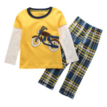 Jumping meters Boys Clothing sets long sleeve Tshirts & full pants ebroidery motorcycle brand Children cotton Boy Clothing Sets