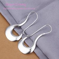 E338 High Quality! Wholesale Low Price Silver Plated Fashion Jewelry Unique Dangle Earrings Ear Studs