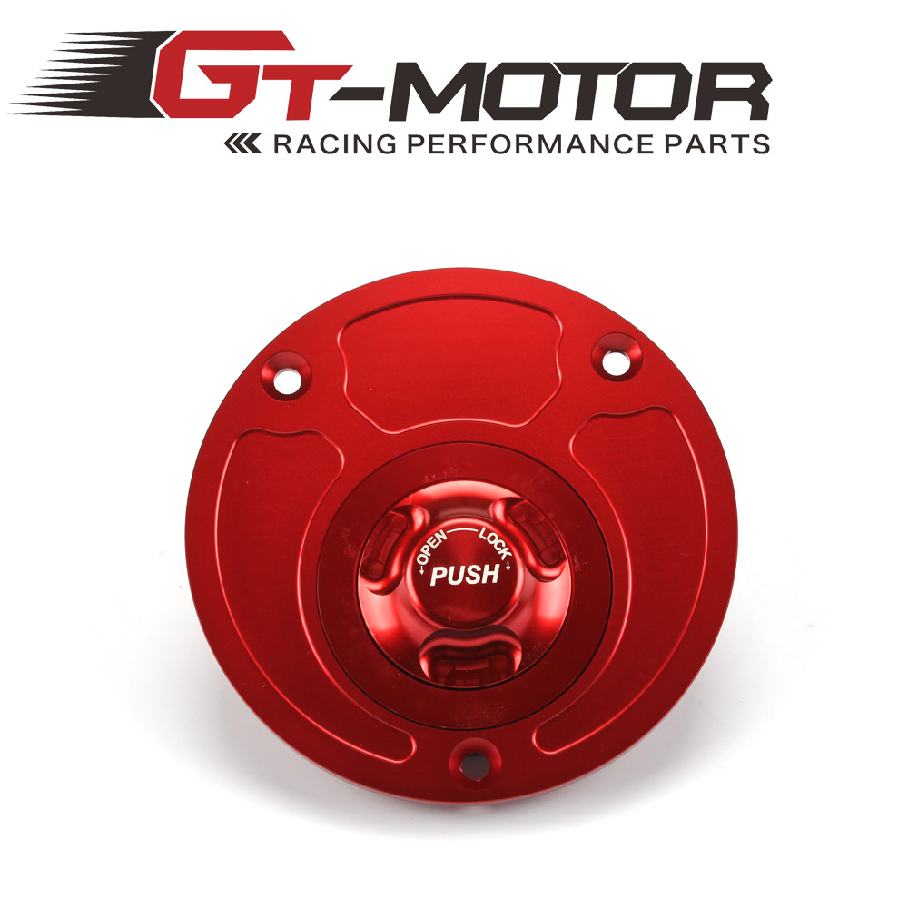 GT Motor - Motorcycle New CNC Aluminum Fuel Gas CAPS Tank Cap tanks Cover With Rapid Locking For DUCATI Monster S4R S2R etc.. motorcycle aluminum keyless fuel gas tank cap for most of suzuki bike motorcycle silver motor accessories