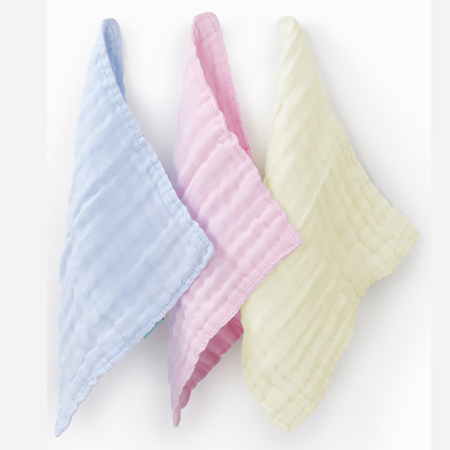 Soft Square Cotton Baby Towel Set Gauze Washcloth Textile Soft Wipes 6 Pcs Baby Feeding Towel Hand Kids 70A0204