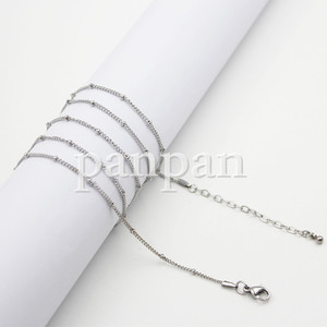 """Image 3 - Carvort 30""""+2"""" inches 316L Stainless steel  ball station chain for memory photo charm locket"""
