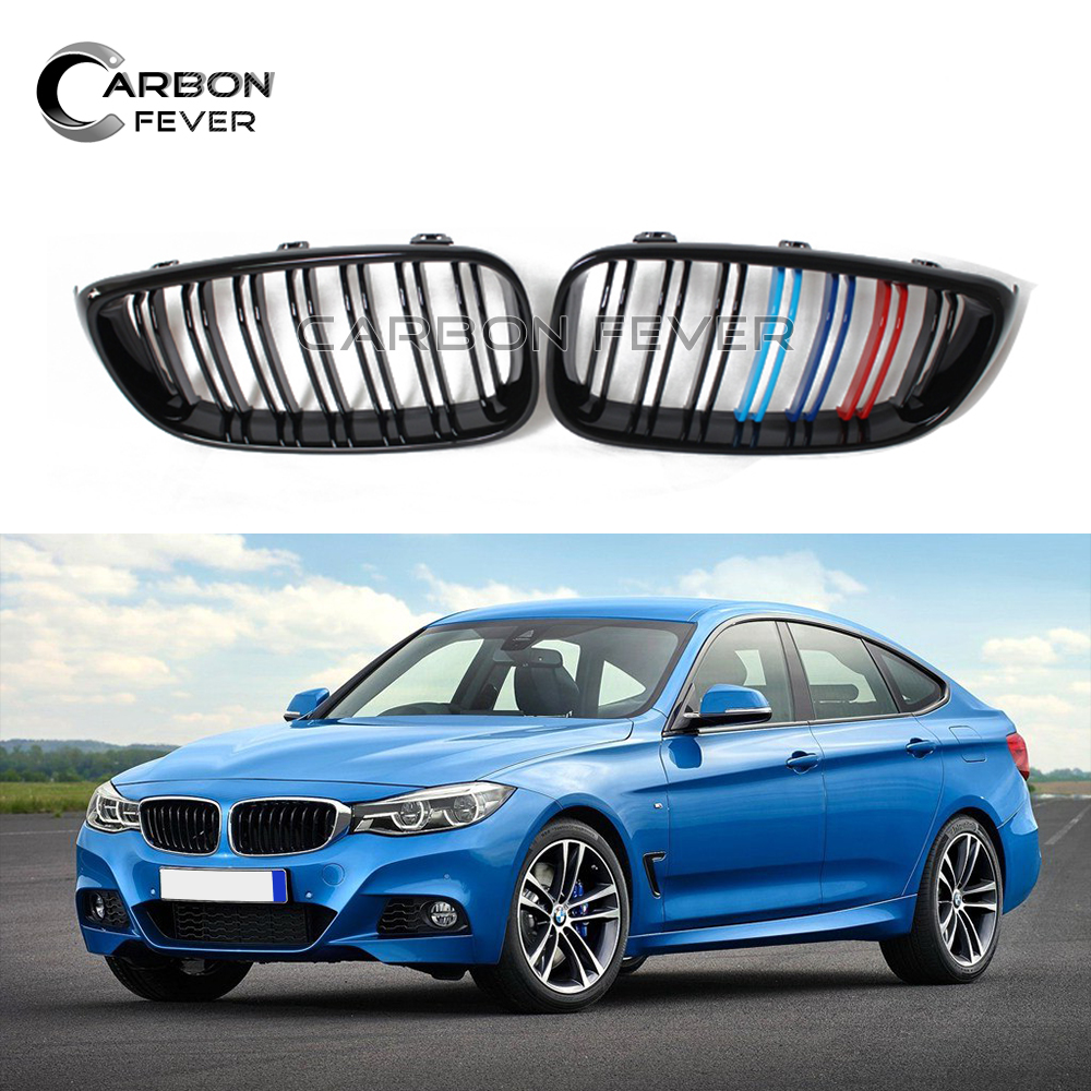 For BMW F34 Front Bumper Grille Kidney Grill Mesh 3 Series