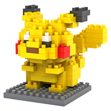 Pokemon Pikachu Cartoon Pet LOZ Diamond Blocks Building Blocks Miniature Minifigure Toy Baby Toys for Girls Toys for Children