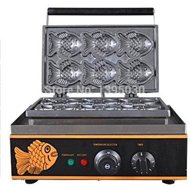 Машина для приготовления Блинов электрическая Вафля в виде рыб