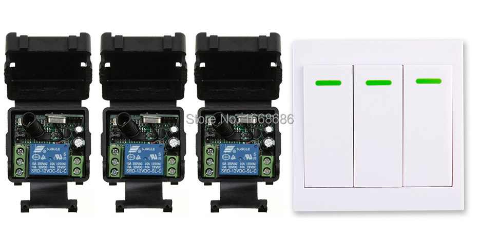 New digital Remote Control Switch DC12V 3* Receiver Wall Transmitter Wireless Power Switch 315MHZ Radio Controlled Switch Relay yongnuo yn e3 rt ttl radio trigger speedlite transmitter as st e3 rt compatible with yongnuo yn600ex rt