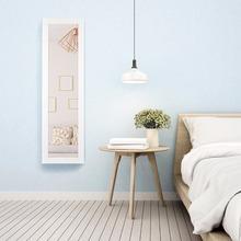 Giantex ścienna i drzwiowa lustrzana szafka na biżuterię organizator przechowywanie w LED Light biały dom umeblowanie HW58924 tanie tanio 12 Wx3 5 Dx51 H Nowoczesne Drewniane