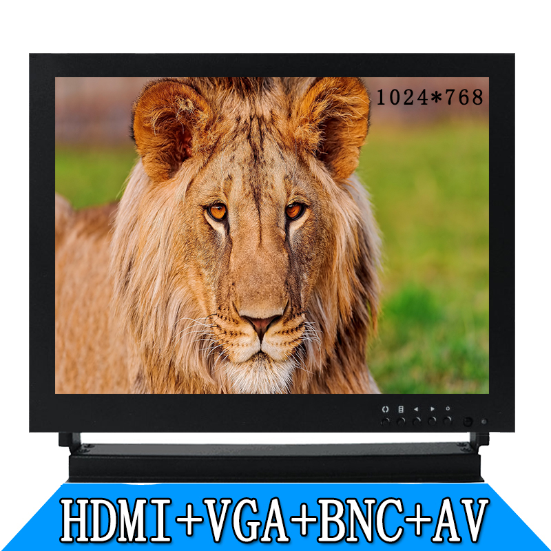 9.7 metal shell BNC HDMI VGA AV high-definition monitors industrial equipment monitoring security monitor screen white 8 inch open frame industrial monitor metal monitor with vga av bnc hdmi monitor
