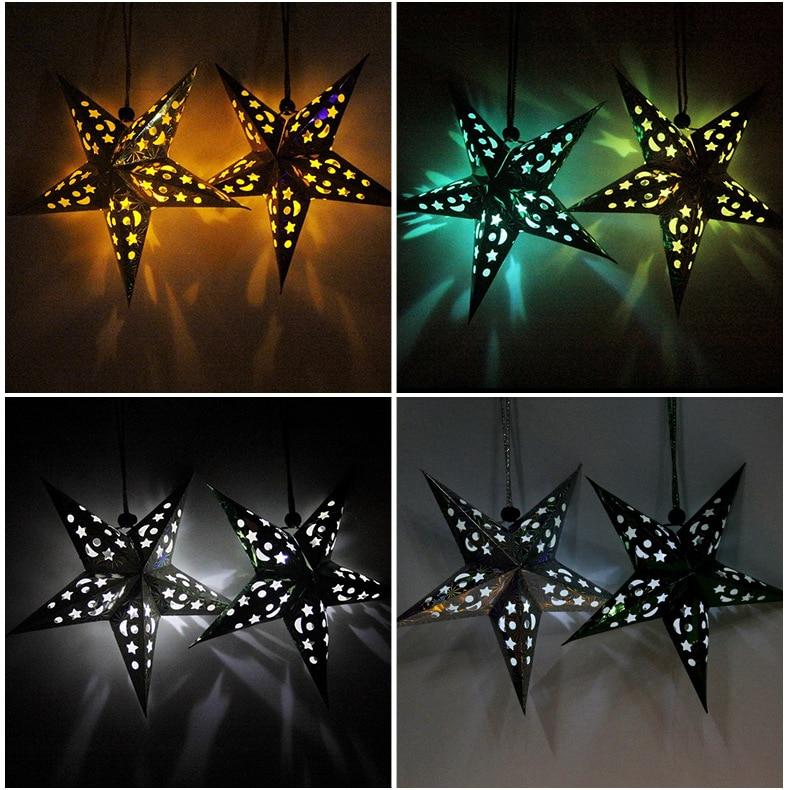 4pcs / Lot 30-60cm LED 스타 핸들 손전등 램프 레이저 - 휴일 파티 용품 - 사진 6