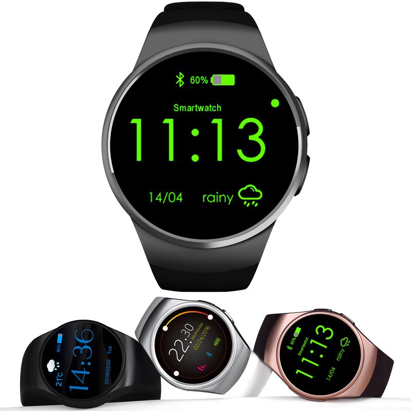 Prix pour Smart Watch KW18 Plein IPS Écran Bluetooth Dispositifs Portables Moniteur de Fréquence Cardiaque Fitness Tracker pour IOS Android Smartphones