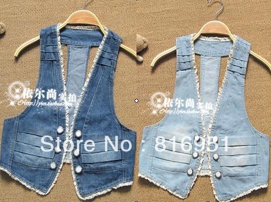 free shipping jacket coat vest coat summer women short sleeveless ...