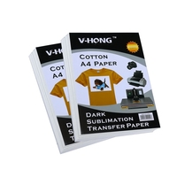 Hottest dark clothes A4 Size hot sublimation transfer paper