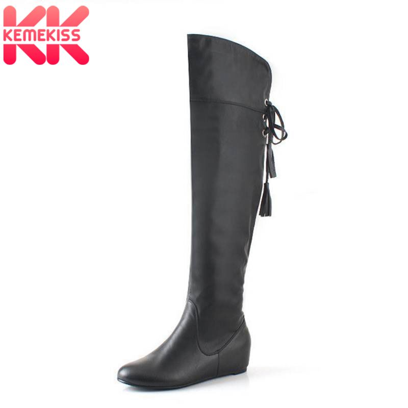KemeKiss Size 34-43 Boots Tassel Sweet Style Women Boot Over Knee High Snow Boots Warm Winter Shoes Woman Botas Size 34-43 ...
