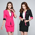 Spring Summer Formal Blazer Women Jackets Slim Ladies Red Black Patchwork Blazer Work Wear Blaser Feminino Office Uniform Styles