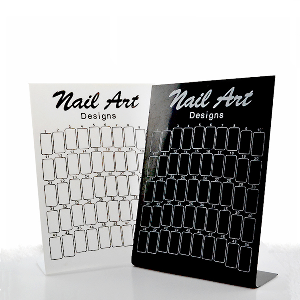 Professional Manicure Display Board Makeup Nail Art Exhibition Panels Color Holder Case Cosmetic Anizer