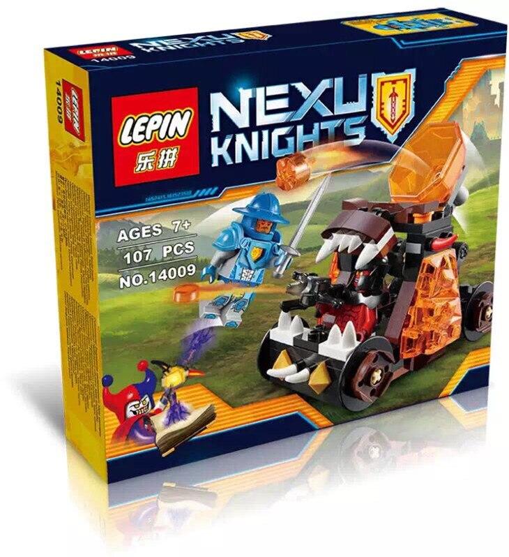 font b LEPIN b font 14009 Nexoe Knights Chaos Catapult Minifigure Building Blocks Crust Smasher