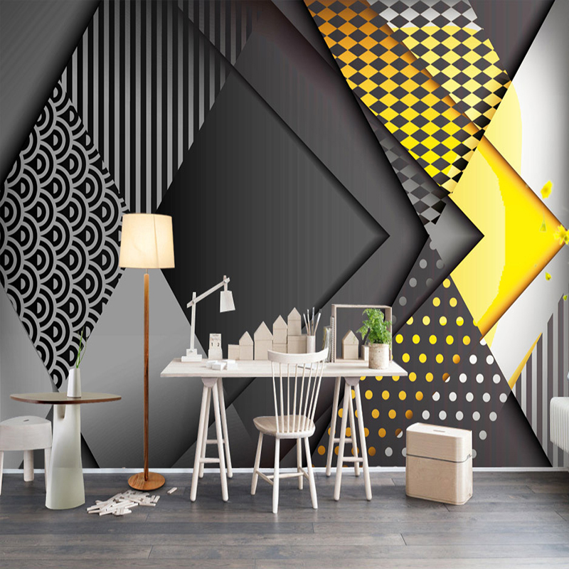 Custom Photo Wallpaper 3d Personality Geometry Pattern Living Room