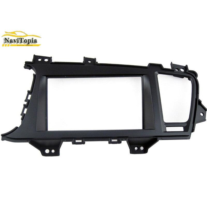 NAVITOPIA 173*98178*100178*102MM Car Radio Fascia for KIA Optima K5 2010+ 2DIN (LHD) AutoStereo Panel kit CD Trim Installation