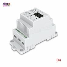 DC5V 12 فولت 24 فولت 36 فولت 4CH PWM الجهد المستمر/تيار مستمر CC CV DMX فك DMX512 LED المراقب المالي ل RGB RGBW LED الشريط مصباح